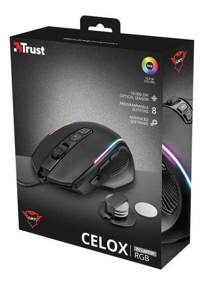 Mouse Gamer Trust:  GXT Celox RGB 10000DPI
