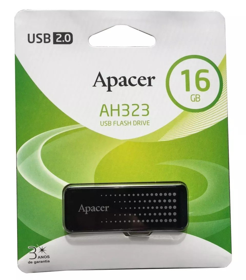 Pen Drive 16GB Apacer - Preto AH323