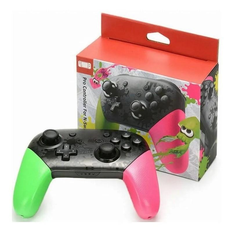 Pro Controller sem fio para Nintendo Switch tema Splatoon
