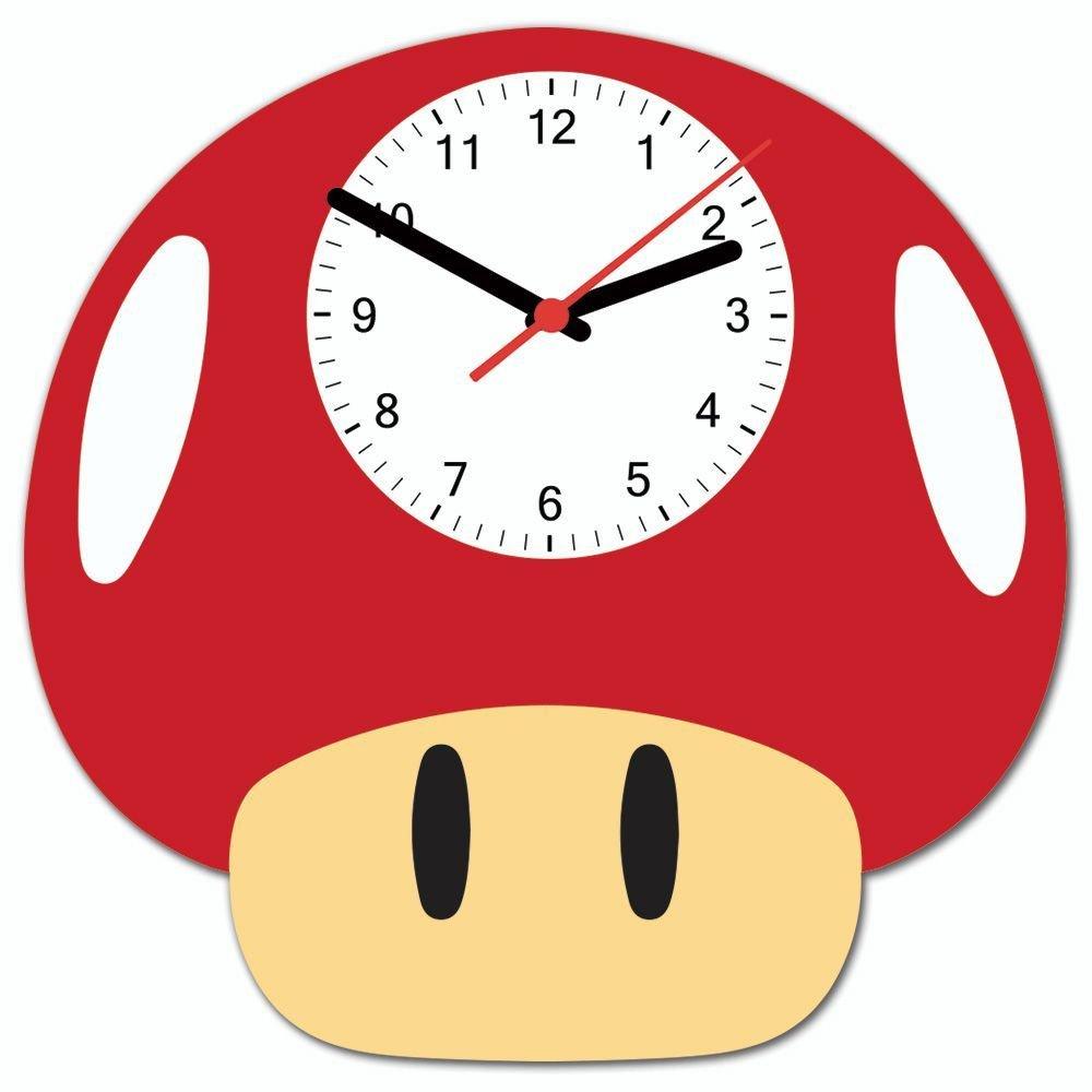 Relógio de Parede Cogumelo Vermelho - Beek