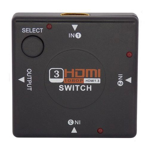 Switch Splitter Hdmi 3x1 Full HD 1080p 3D Controle P/ HDTV