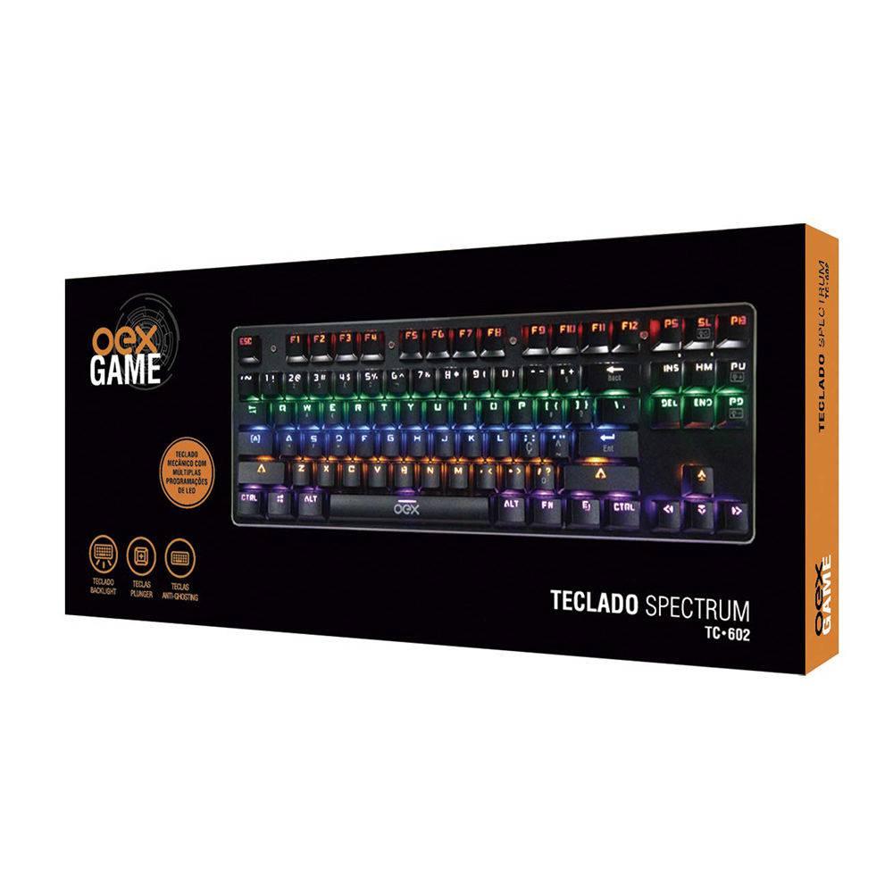 Teclado Gamer Mecânico Profissional Spectrum Reloaded Tc602 - Oex