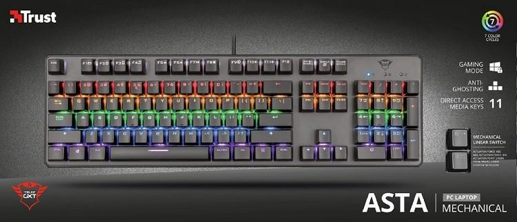 Teclado para PC Asta Rainbow GXT 865 Mecânico