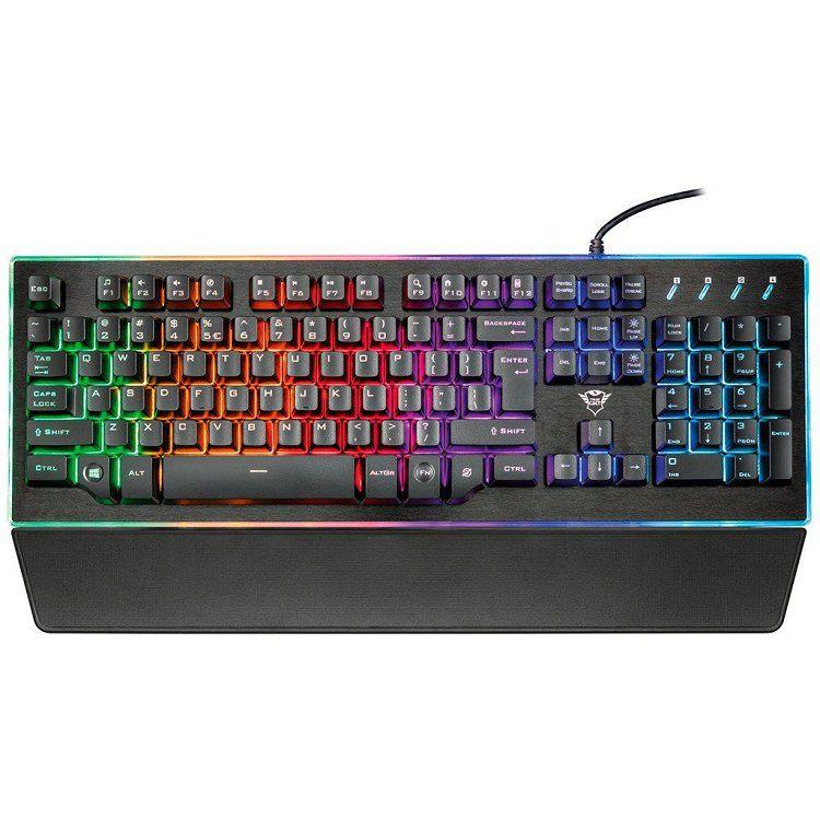 Teclado Trust Gamer: Thura Rainbow GXT 860 Semi-Mecânico