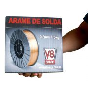 Arame MIG Rolo com 5Kg 0.8mm - V8 Brasil