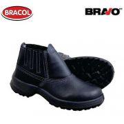 Botina Bravo Bidensidade Preta Biq Aço Nº37 - Bracol