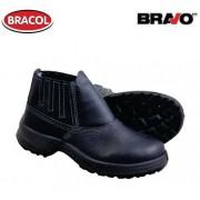 Botina Bravo Bidensidade Preta Biq Plástica Nº38 - Bracol