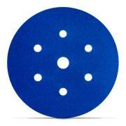 Disco Hookit Blue 321U 6Pol 152mm 7 Furos Grão 180 - 3M
