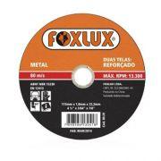 Disco Corte Metal 4.1/2pol 115x1x22 - Foxlux