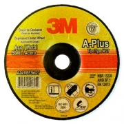 Disco de Desbaste A-Plus 4.5Pol 115x6.4x22 Aço Carbono e Metais Ferrosos - 3M