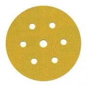 Disco Hookit 152mm 6Pol Ouro Com 7 Furos Grão 120 - 3M