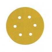 Disco Hookit 152mm 6Pol Ouro Com Furo Grão 120 - 3M