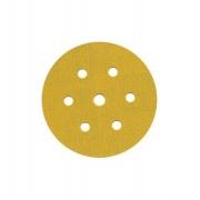 Disco Hookit 6Pol 152mm Ouro 236U Com 7 Furos Grão 120 - 3M