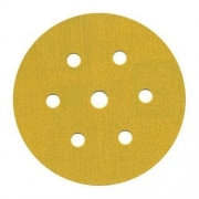 Disco Hookit 6Pol 152mm Ouro 236U Com 7 Furos Grão 280 GMI - 3M