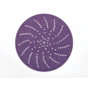 Disco Hookit 6Pol 152mm Purple 334U Com Multi-Furos Grão 320 - 3M