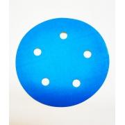 Disco Hookit Blue 338U 5Pol 127mm Com 5 furos Grão 120 - 3M