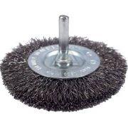 Escova de Aço Circular Ondulada Com Haste 4Pol- Inebrás