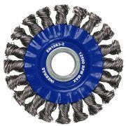 Escova de Aço Circular Trançada 6Pol x 1/2Pol - Inebrás