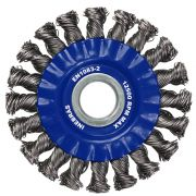 Escova de Aço Circular trançada 6Pol x 1/2Pol PRO - Inebrás