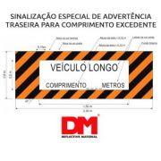 Faixa Refletiva Veículo Longo 80cm x 2.3 Metros Aprovada Denatran - DM