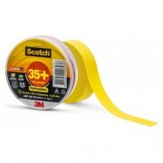 Fita Isolante 3M Scotch 35+ Amarela 19mm x 20m
