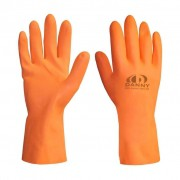Luva de Latex Reforcada Max Orange Tamanho 07P - Danny