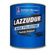 Tinta Poliester 900ml Cinza Steel I Metálico - Lazzuril