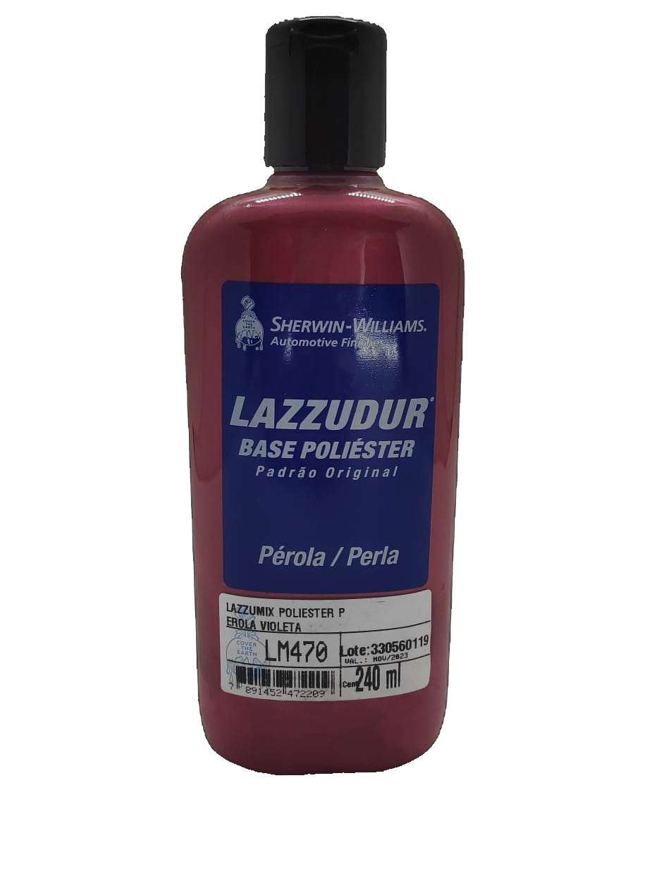 Base LM-470 Perola Violeta Poliester 240 ml - Lazzuril