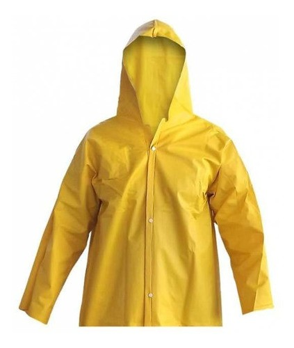 Blusão Pvc Amarelo Tamanho G - Brascamp