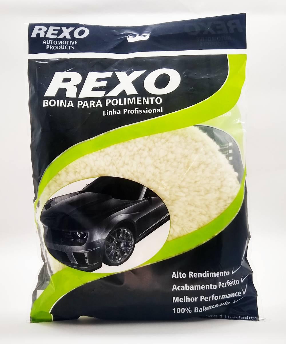 Boina Dupla Face Lã Branca Normal 8Pol - Rexo