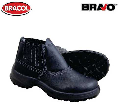 Botina Bravo Bidensidade Preta Biq Aço Nº39 - Bracol