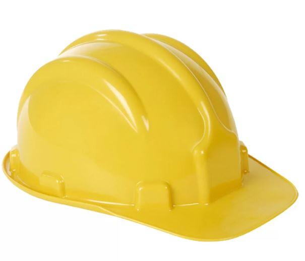Capacete Carneira Simples Amarelo CA31469 - Plastcor