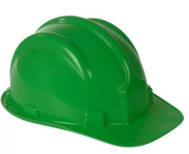 Capacete Carneira Simples Verde CA31469 - Plastcor