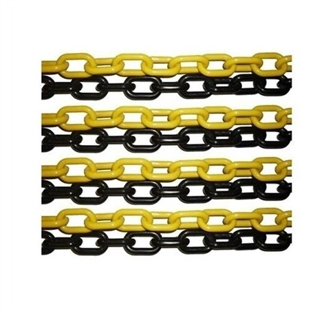 Corrente Plástica Preta/Amarela Elo G 6cm - Plastcor