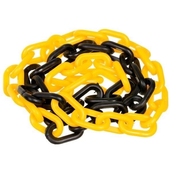 Corrente Plástica Preto/Amarelo Elo Pequeno - Plastcor