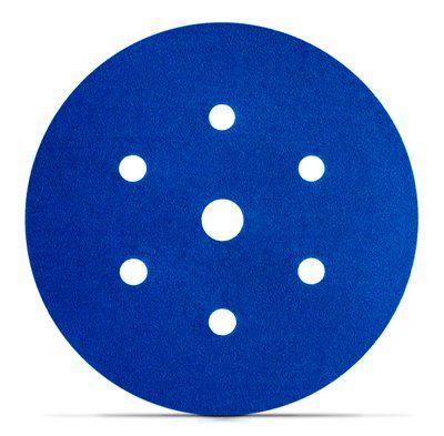 Disco Hookit Blue 321U 6Pol 152mm 7 Furos Grão 80 - 3M