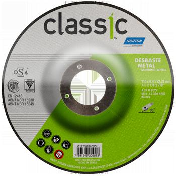 Disco Desbaste 4.1/2Pol 115mm x 6.4mm x 22.2mm Classic Basic - Norton