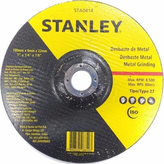 Disco Desbaste 4.1/2Pol 115mm x 6.4mm x 22.2mm STA0413 - Stanley