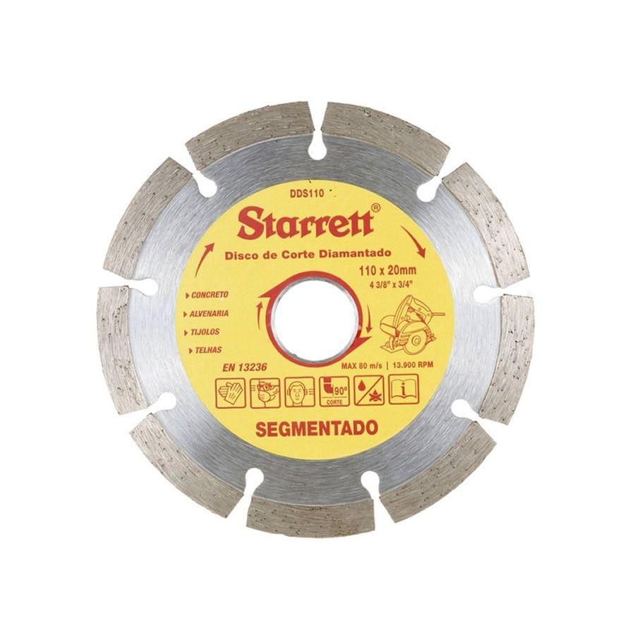 Disco Diamantado 110mm Segmentado - Starrett
