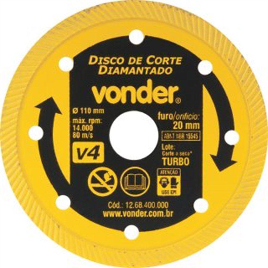 Disco Diamantado 110mm V4 Turbo - Vonder