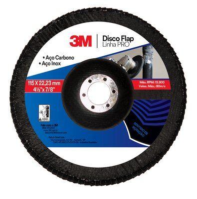 Disco Flap PRO 115mm 41/2Pol Grão 120 - 3M