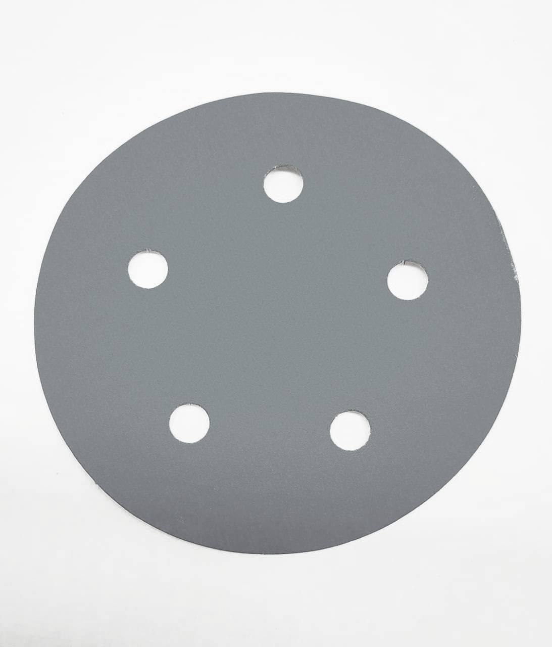 Disco Hookit 5Pol 127mm Prata 255Z Com Furo grão 80 - 3M