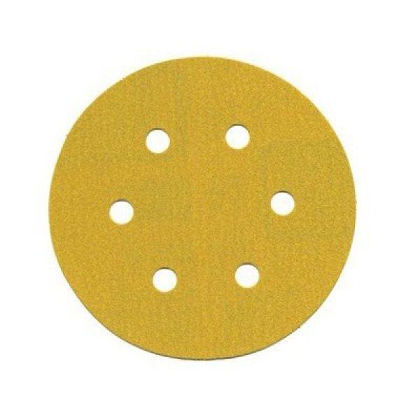 Disco Hookit 6Pol 152mm Ouro 236U Com Furo Grão 280 GMI - 3M