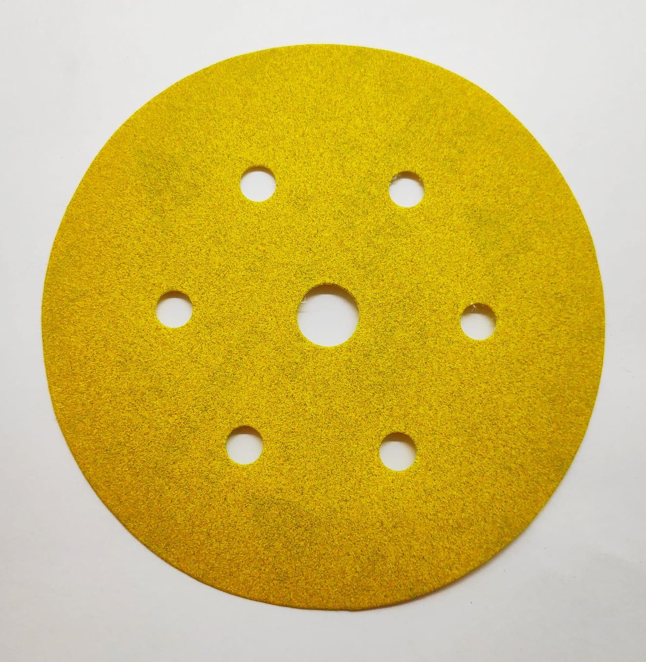 Disco Hookit 6Pol 152mm Ouro Com 7 Furos Grão 320 - 3M