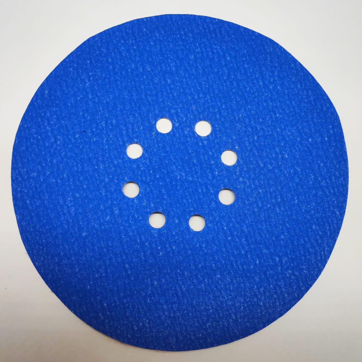 Disco Hookit Blue 338U 225mm Com 8 Furos Grão 80 - 3M