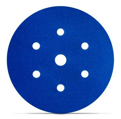 Disco Hookit Blue 338U 6Pol 152mm Com 7 Furos Grão 220 - 3M