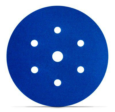 Disco Hookit Blue 338U 6Pol 152mm Grão 80 - 3M