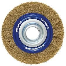 Escova de Aço Circular Ondulada 6Pol x 3/4Pol - Inebrás