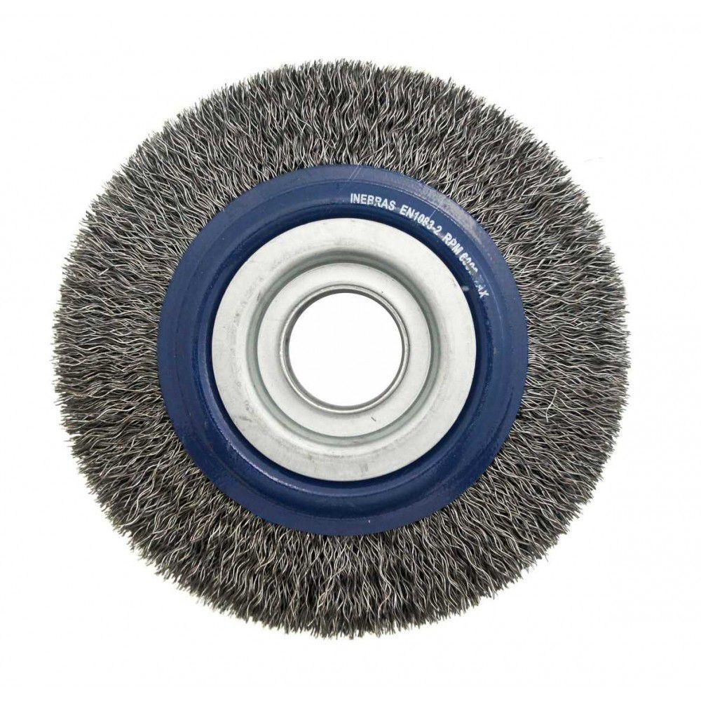 Escova de Aço Circular Ondulada 6Pol x 3/4Pol PRO - Inebrás