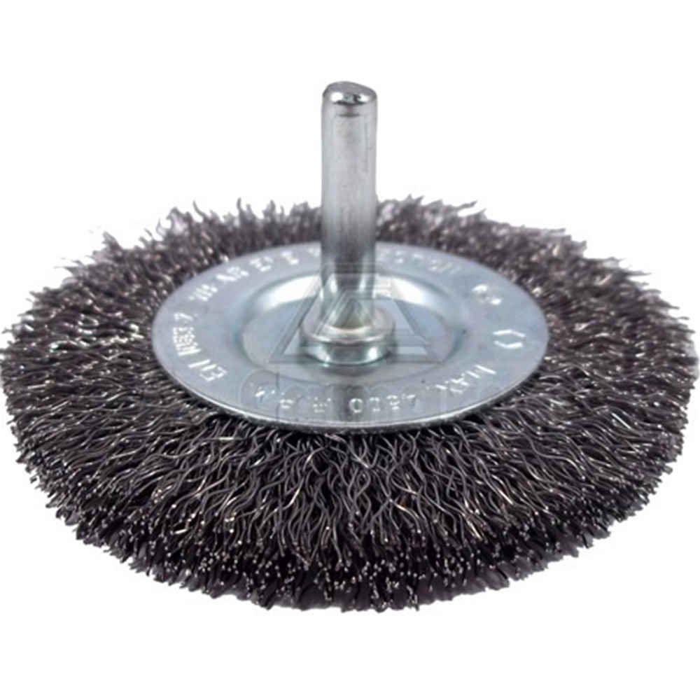 Escova de Aço Circular Ondulada Com Haste 3Pol x 3/4Pol - Inebrás